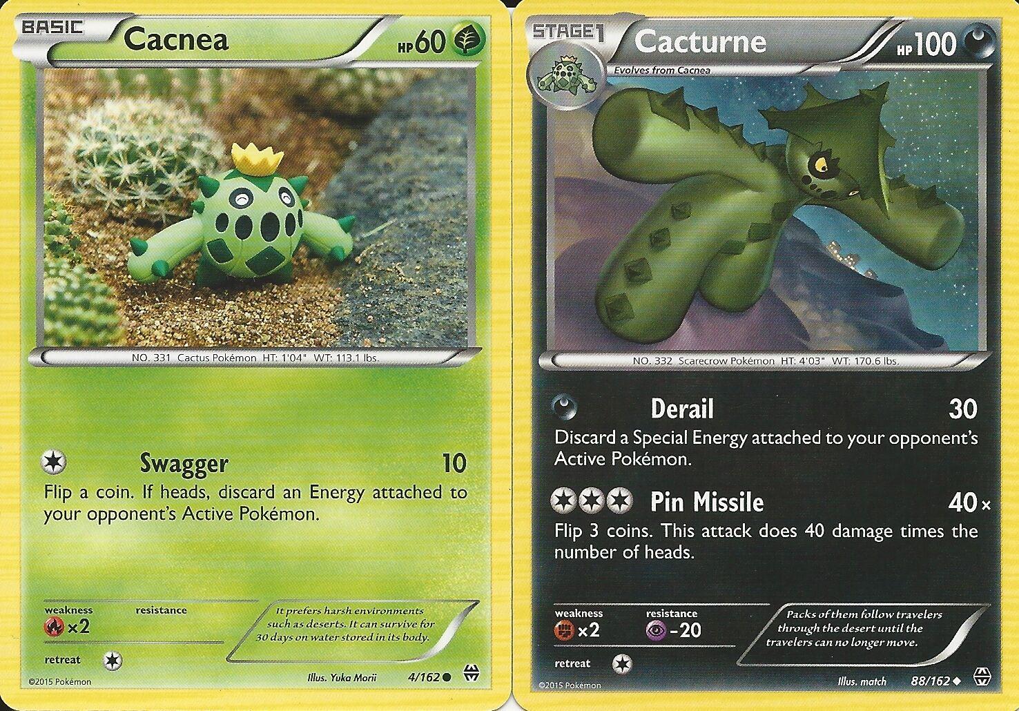 Pokemon Card CACTURNE 88//162 Non Holo BREAKthrough Set