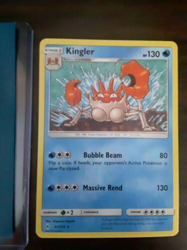 Pokemom Card: Rare Kingler 47/214 Unbroken Bonds