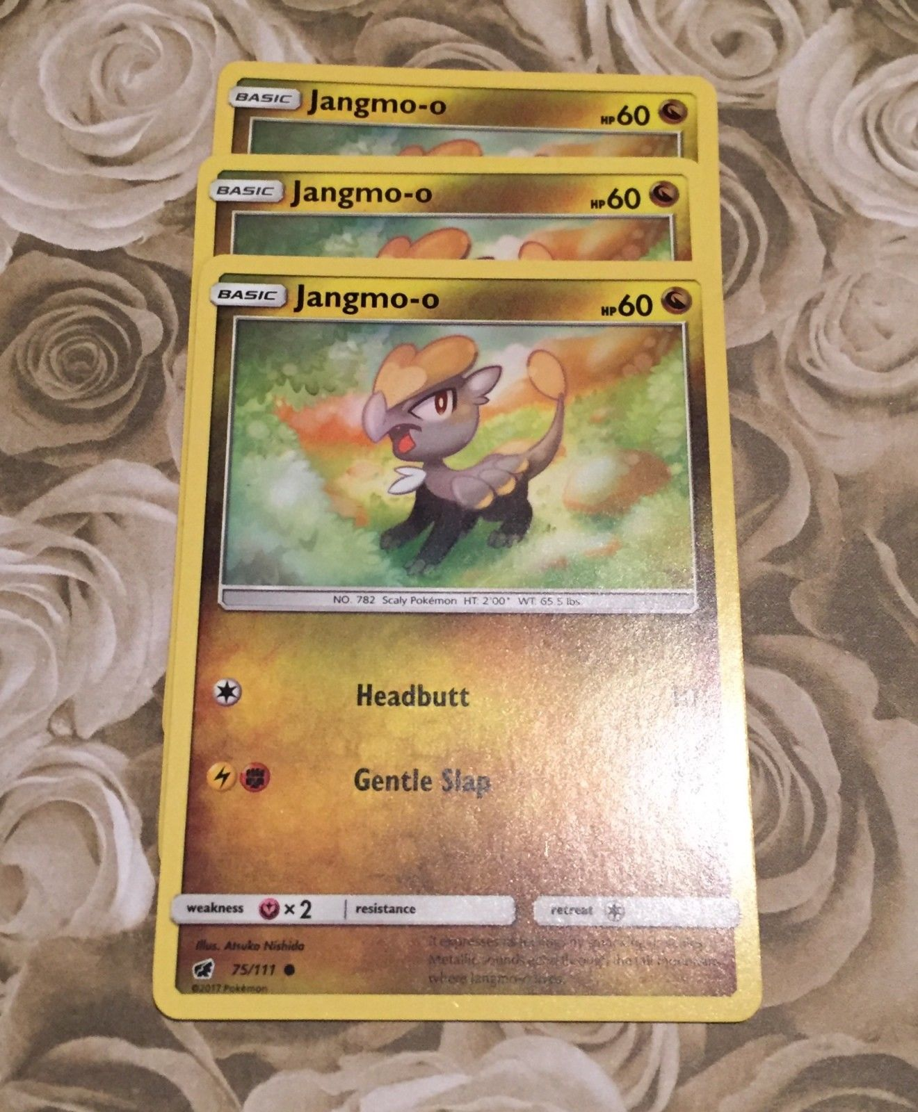 98//145 POKEMON GUARDIANS RISING CARD JANGMO-O
