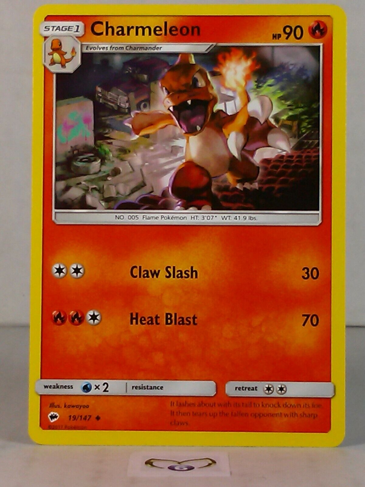 Burning Shadows Set 2017 Uncommon Pokemon Card Charmeleon 19//147