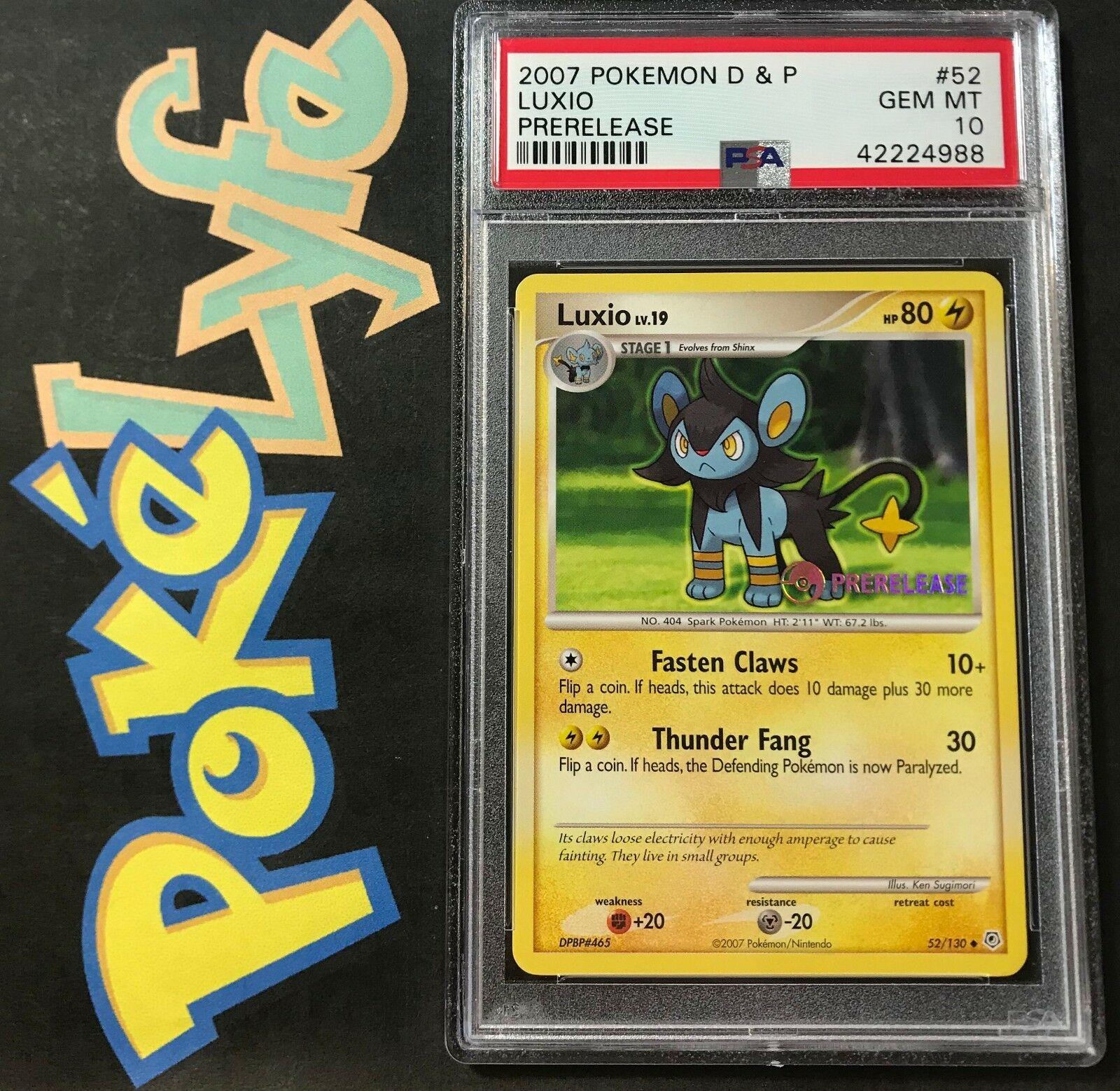 Luxio Pokemon Diamond /& Pearl Base Uncommon #52//130