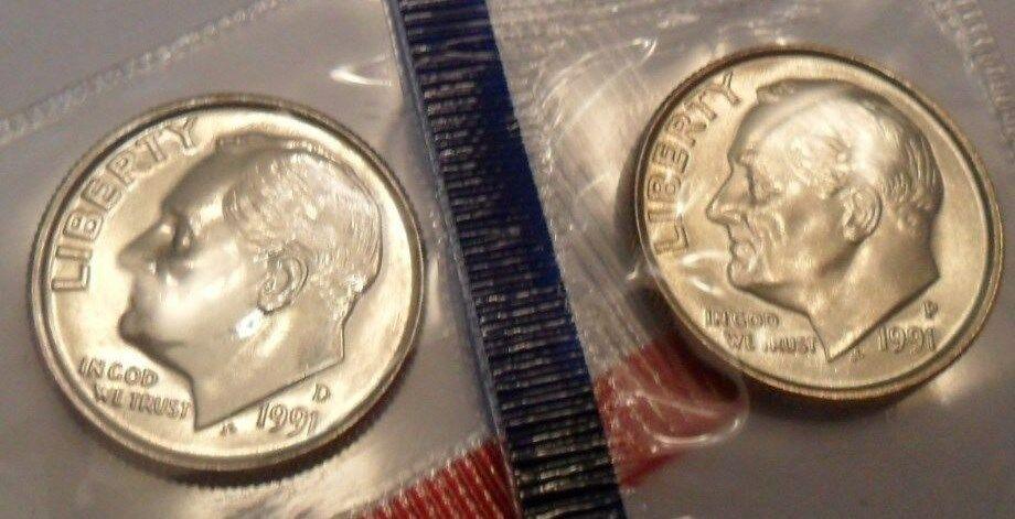 2 Coins 1996 P /& D Roosevelt Dime Set  *MINT CELLO* **FREE SHIPPING**
