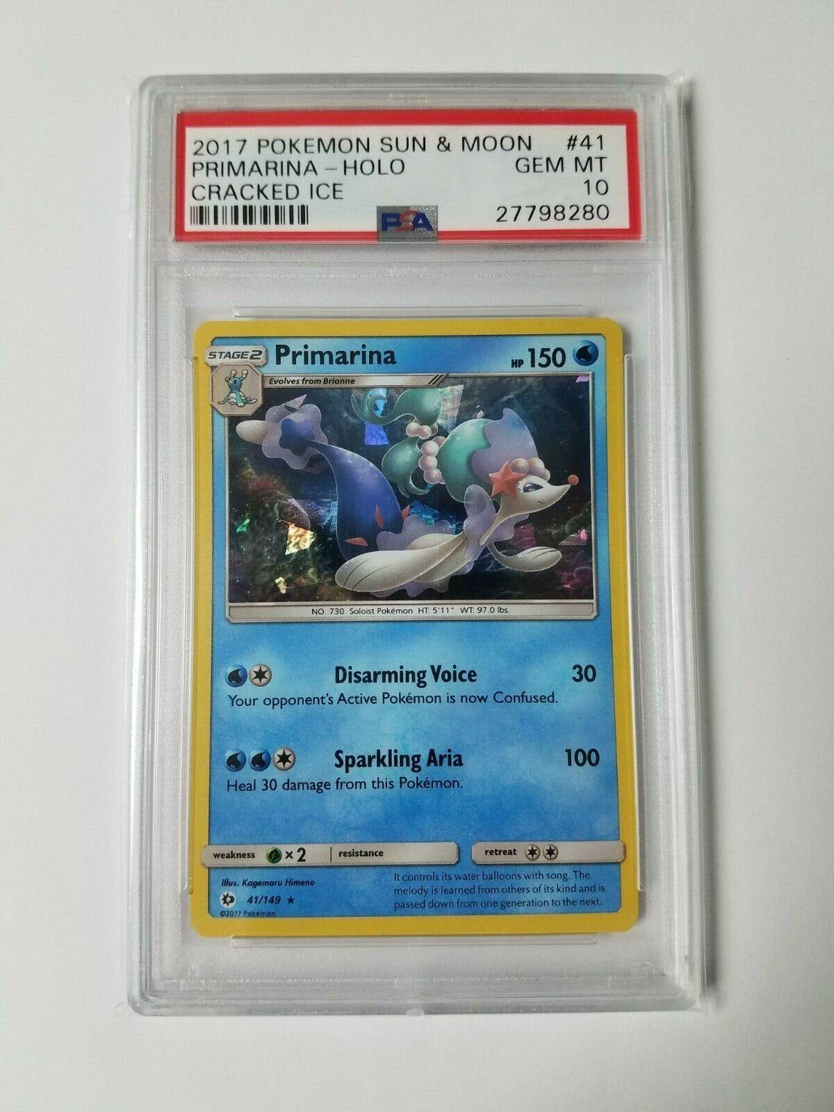 Primarina 41//149 Sun /& Moon REVERSE HOLO MINT Pokemon