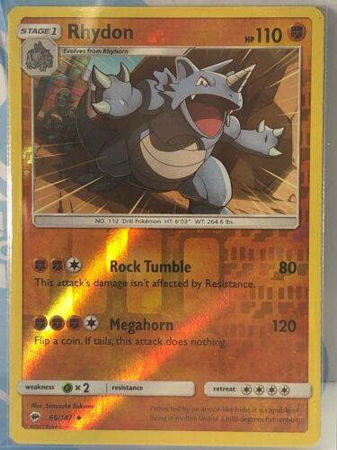 4x Rhydon Uncommon Burning Shadows Pokemon Near Mint 66//147