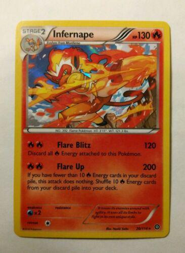 Infernape 20//114 Steam Siege Reverse Holo Mint Pokemon Card