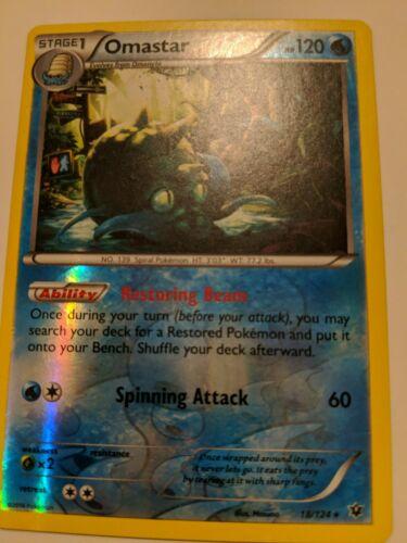 Pokemon - Omastar 18/124 - XY Fates Collide - Rare - Rev Holo - NM
