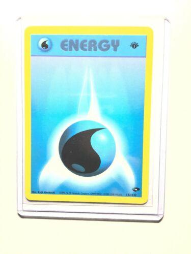 POKEMON GYM CHALLENGE WATER ENERGY 132//132 inglese-MINT//NEAR MINT
