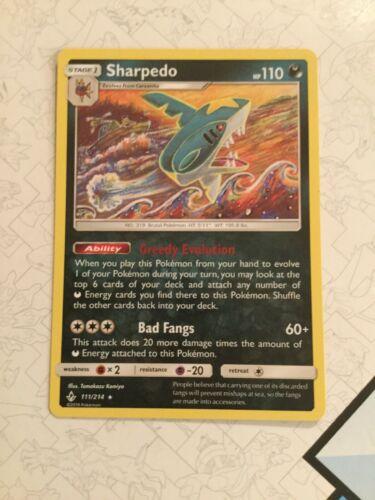 Sharpedo - 111/214 - Pokemon Unbroken Bonds- NM/Mint