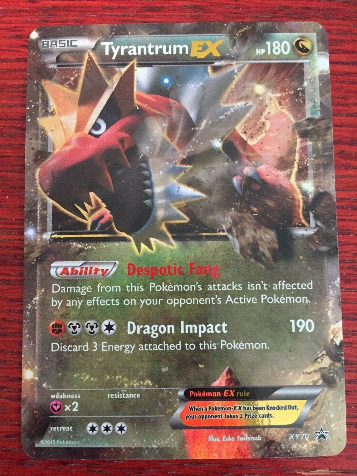Tyrantrum-EX Box Exclusive NM Pokemon Pokemon Promos 1x Tyrantrum-EX XY70
