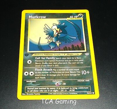 Murkrow 46//64 1ST EDITION Neo Revelation Set Pokemon Card NEAR MINT