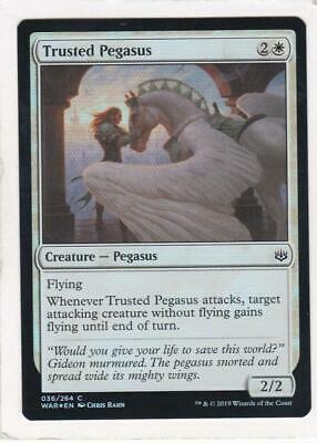 Trusted Pegasus NM Card x 4 Playset MTG Core 2020