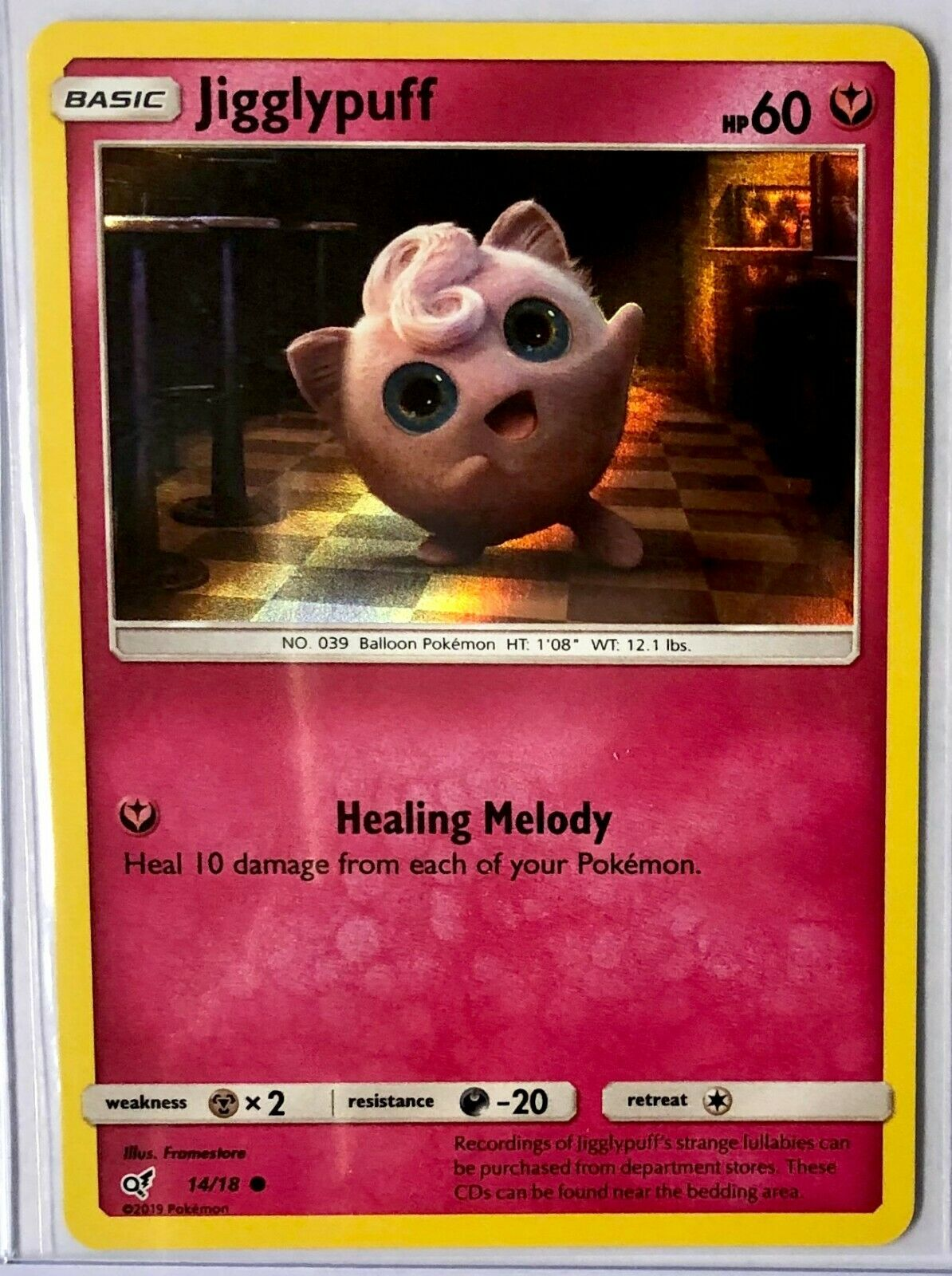 Pokemon Detective Pikachu 14//18 Jigglypuff Holo Individual Single Card