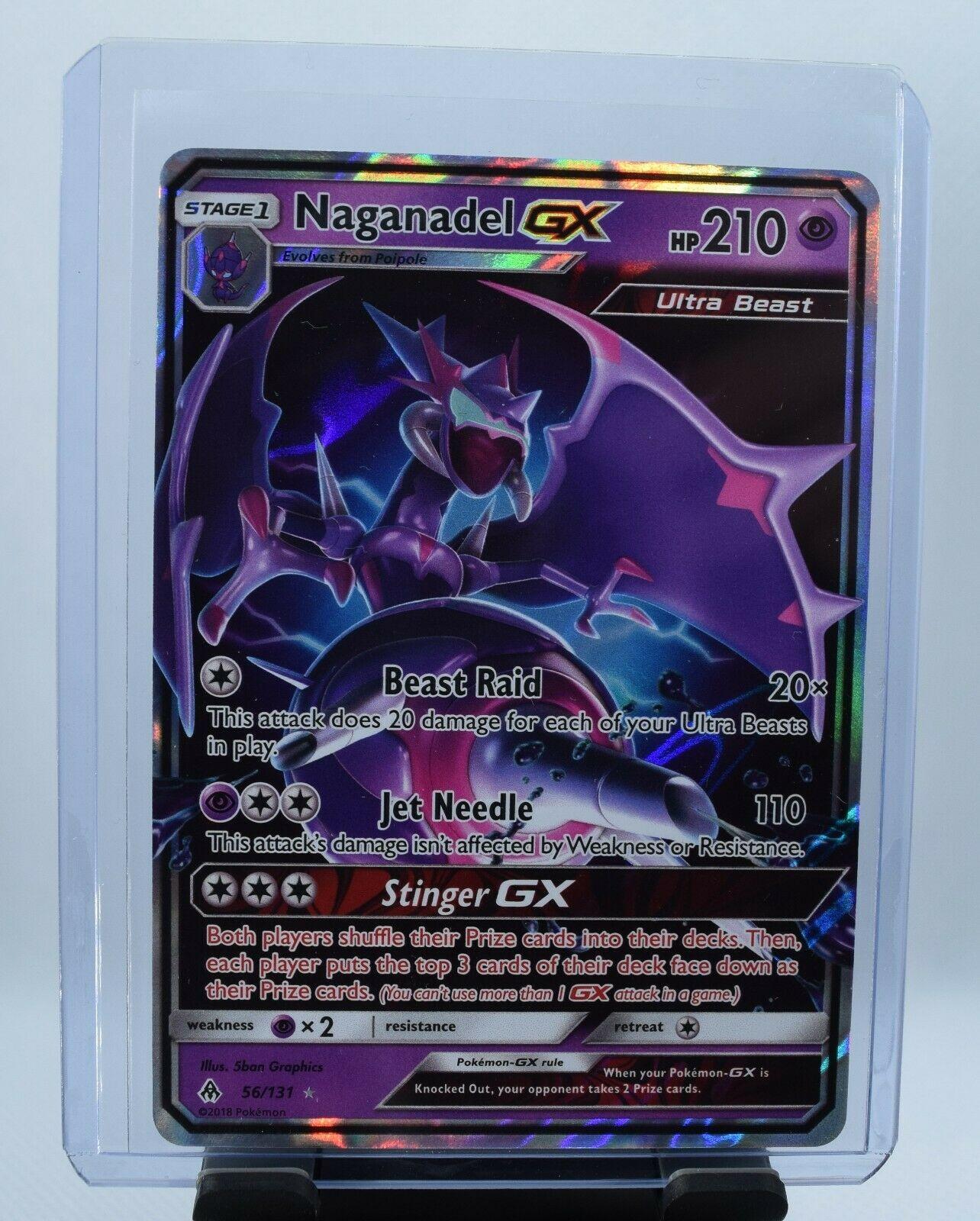 Forbidden Light   Ultra Rare   Mint//NM   Pokemon NaganadelGX 56//131  SM