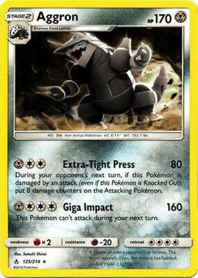 Aggron 125/214 SM Unbroken Bonds Rare Pokemon Card Near Mint