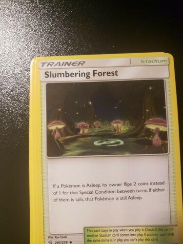 Slumbering Forest 207//236 Unified MindsPokemon CardTrainerFast Shipping
