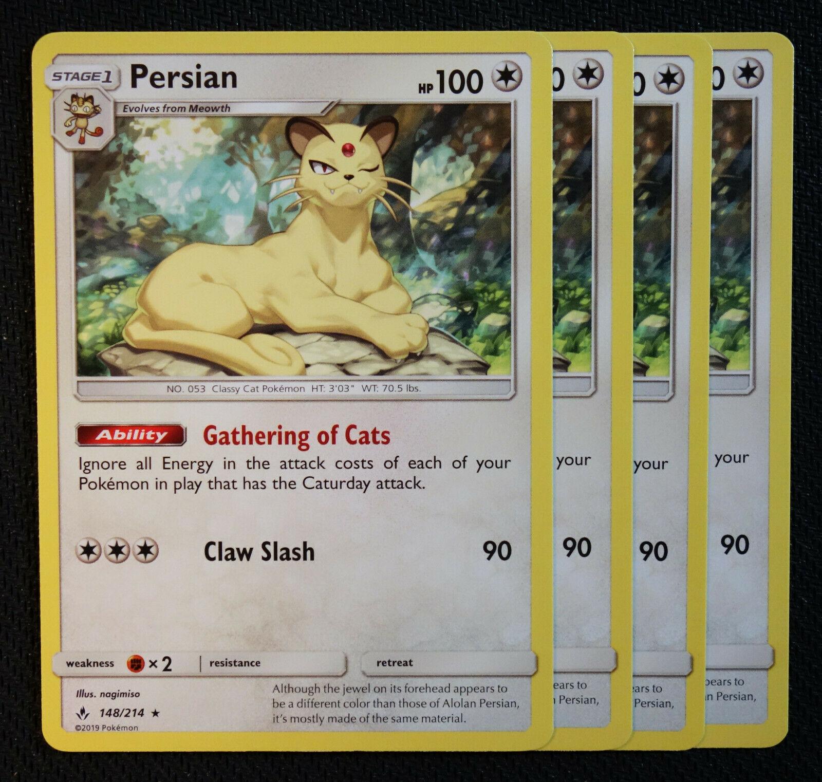 148//214 5x Persian Rare NM Sun /& Moon Unbroken Bonds