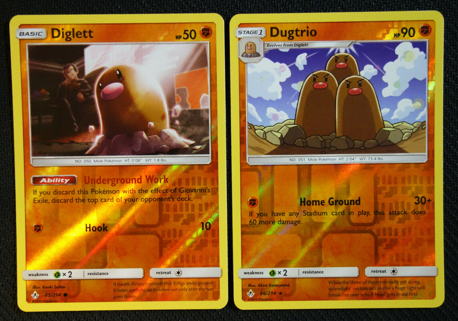 4x Dugtrio 86//214Pokemon Unbroken Bonds