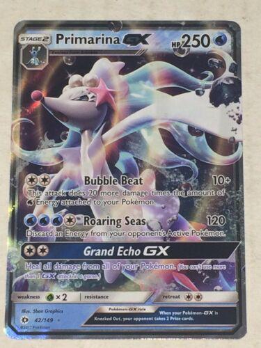 Primarina GX 42//149 Sun /& Moon ULTRA RARE HOLO PERFECT MINT Pokemon