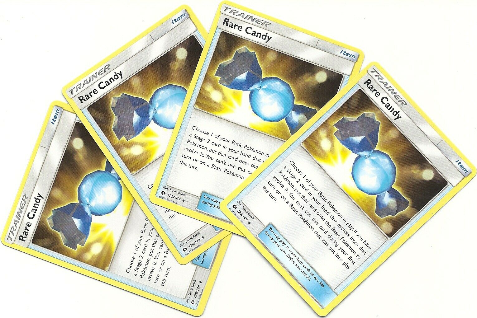 Base Set 129//149 3x Rare Candy Uncommon NM Sun /& Moon