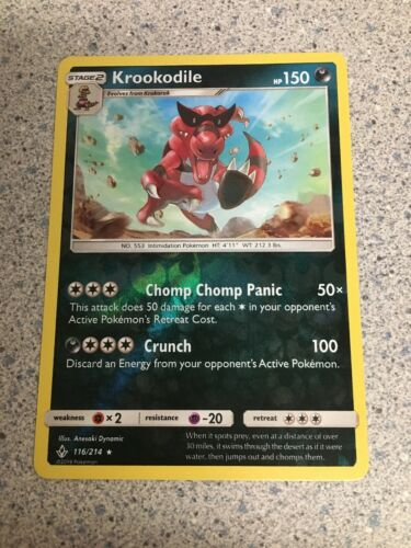 Pokemon Krookodile - 116/214 - Rare - Reverse Holo Unbroken Bonds