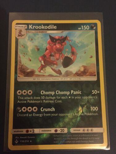 Krookodile 116/214 Unbroken Bonds - Reverse Holo Rare Pokemon Card - Mint