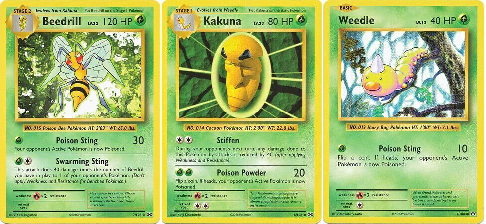 Rev Holo MINT XY Evolutions Pokemon KAKUNA 6//108