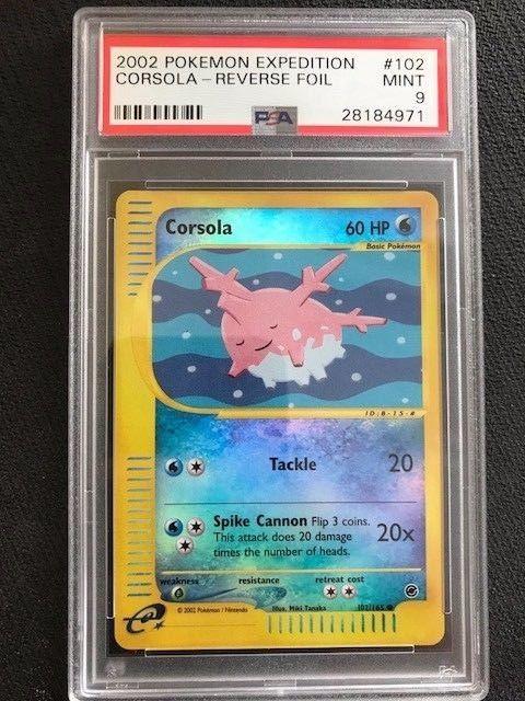 Corsola 102//165 Expedition E Reader Base Set COMMON Pokemon Card NEAR MINT