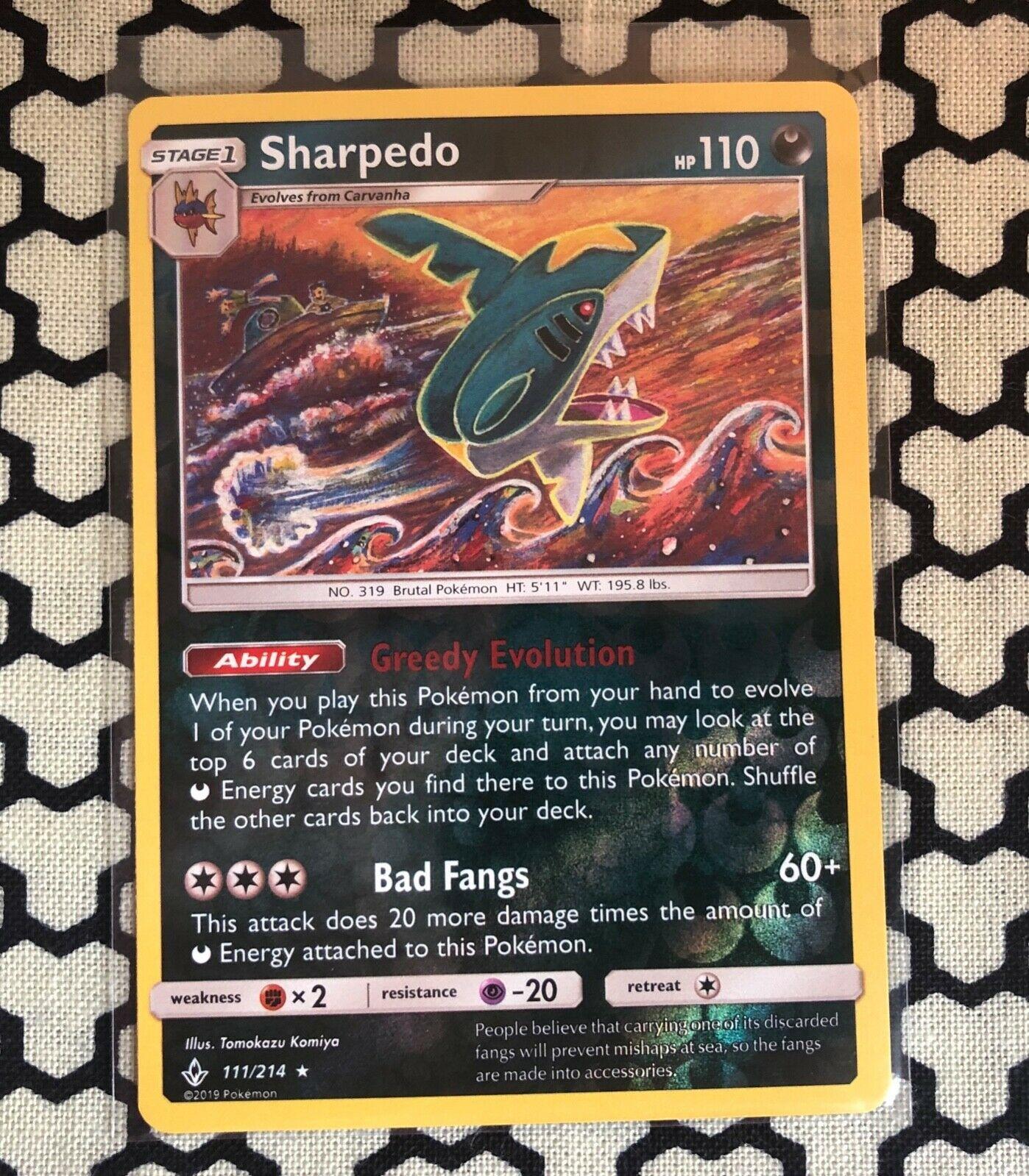 Sharpedo - Unbroken Bonds 111/214 - Reverse Holo Rare Mint/NM - Pokemon