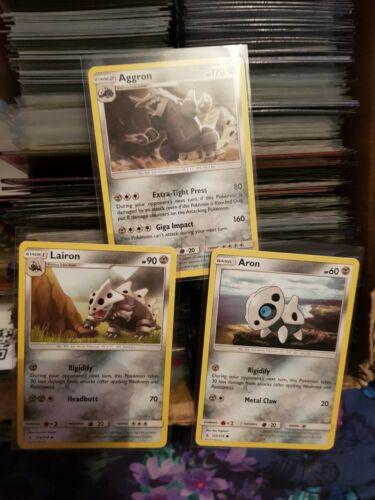 Aggron 125/214 & Evolution Cards - Pokemon Sun & Moon Unbroken Bonds Cards.