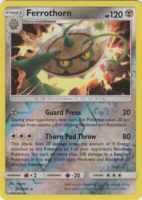 1x - Ferrothorn - 103/181 - Rare - Reverse Holo NM Pokemon Sun & Moon - Team Up