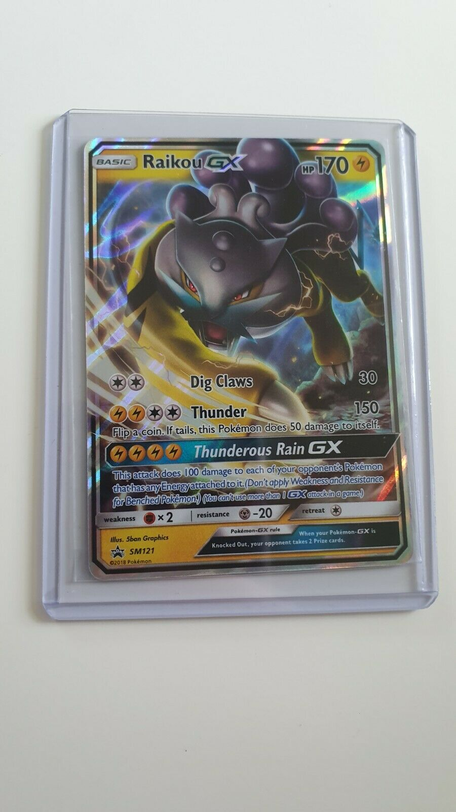 Pokemon TCG Cards Raikou GX SM121 Legends of Johto Promo MINT!!
