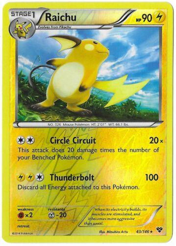 Pokemon Near Mint Pikachu 42//146 Raichu 43//146
