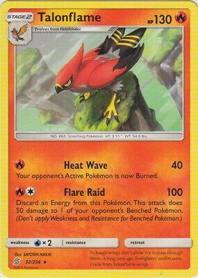 x4 Talonflame - 32/236 - Rare Pokemon SM11 Unified Minds M/NM English
