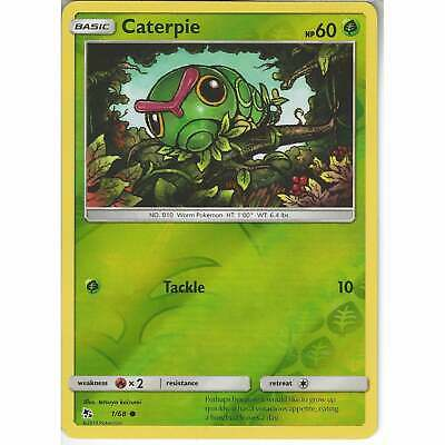 NM-M 4x Caterpie 1//68 Common Pokemon TCG SM Hidden Fates