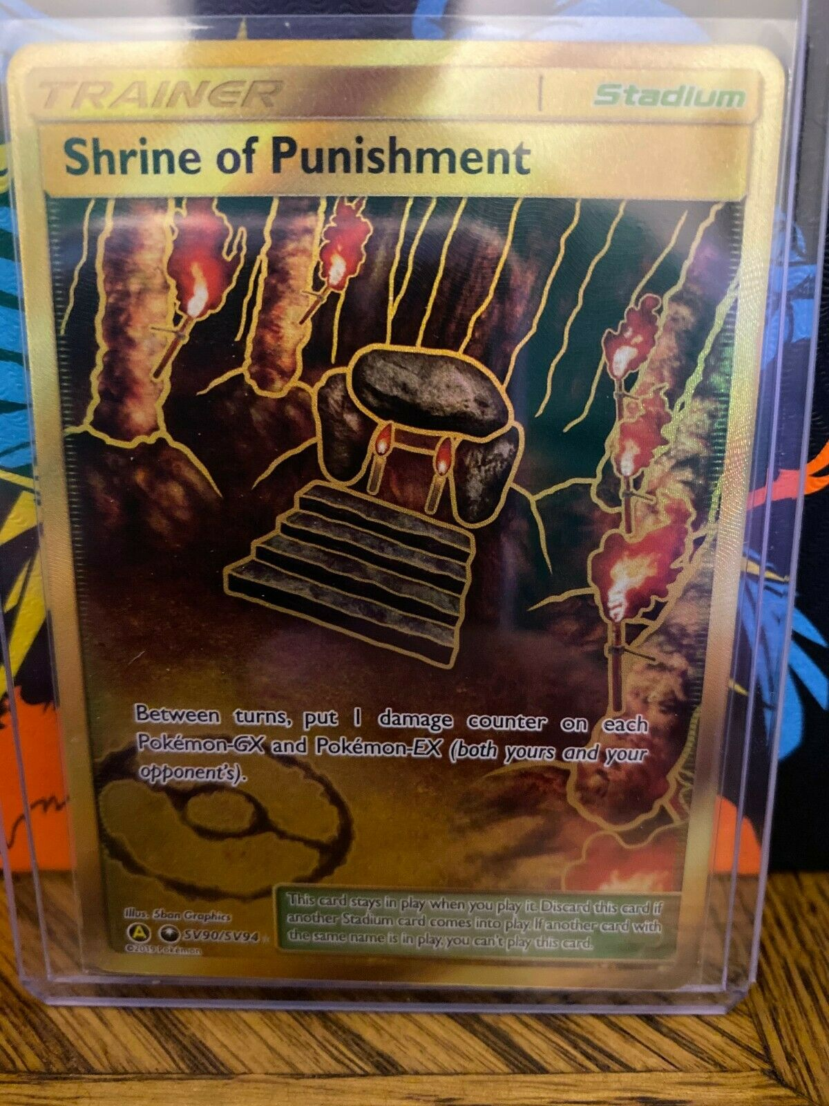 Pokemon Hidden Fates SHRINE OF PUNISHMENT Shiny Full Art Secret Rare SV90 NM