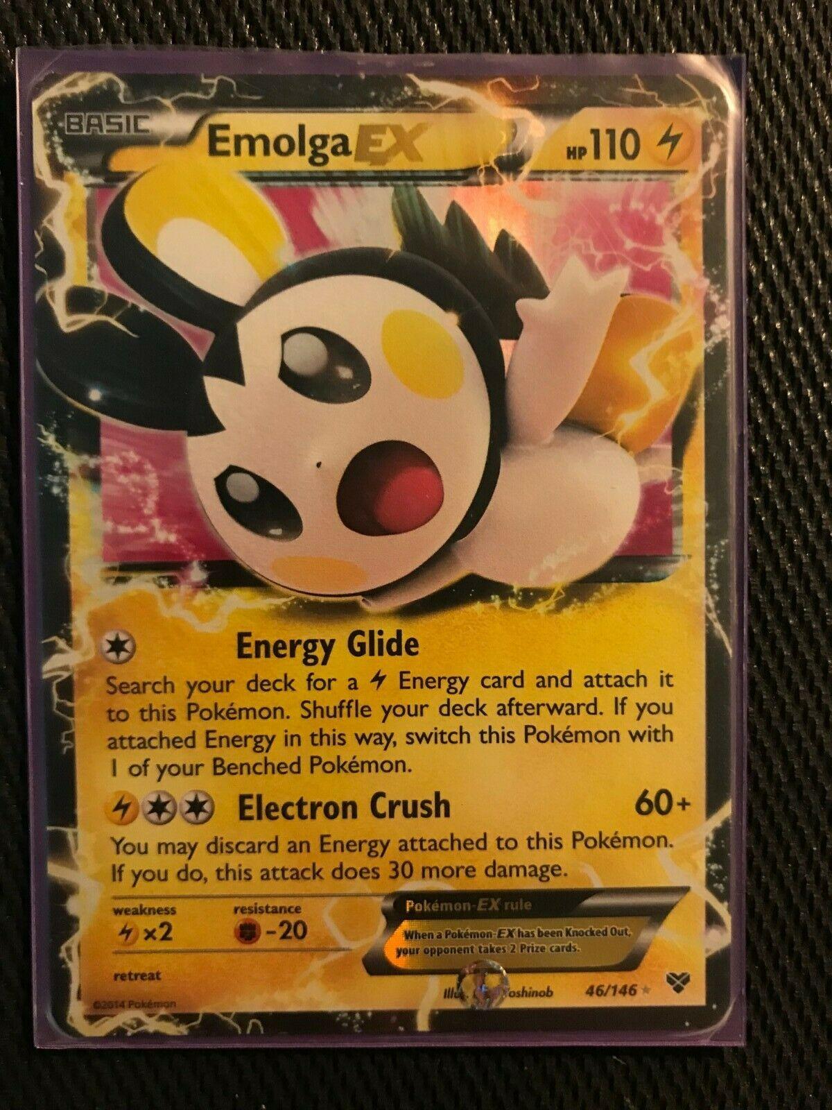Emolga-EX Ultra Rare Pokemon Card XY Base 46//146