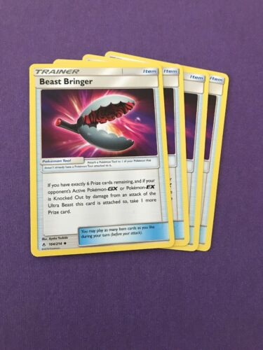 POKEMON SM UNBROKEN BONDS 4X CARDS : BEAST BRINGER 164/214 - PLAYSET