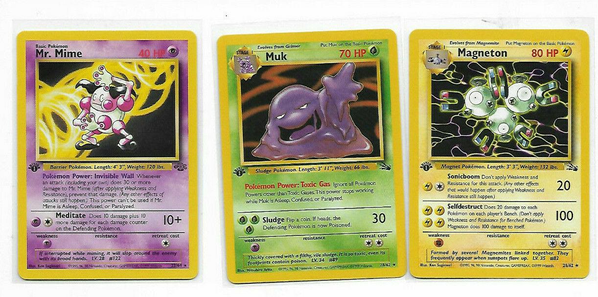 Fossil 1st Edi Rare 28//62 1x Muk 1st Edition Lightly Played Pokemon G1
