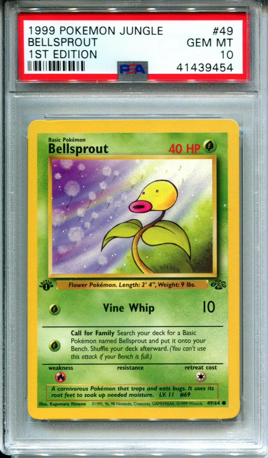Bellsprout 49//64 Jungle Set COMMON Pokemon Card NEAR MINT