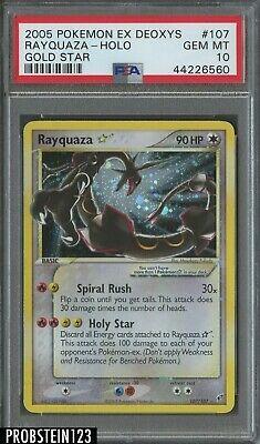 HOLOGRAPHIC Rayquaza Gold Star Holo Pokemon PROXY READ Psa Proxy Real Holo Version