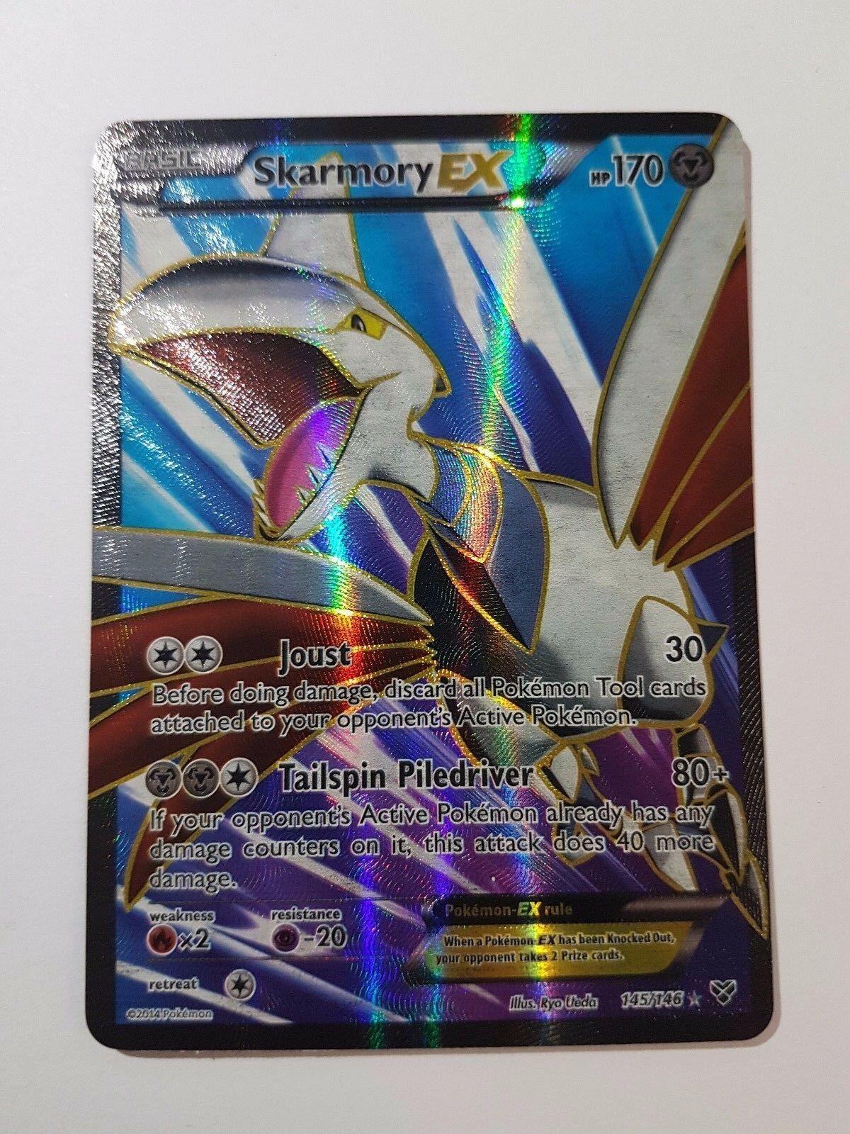 Pokemon XY Skarmory EX 145//146 Holo Full Art Ultra Rare Card