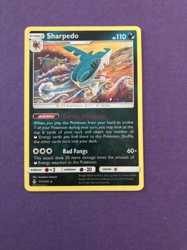 POKEMON SM UNBROKEN BONDS CARD : SHARPEDO - 111/214
