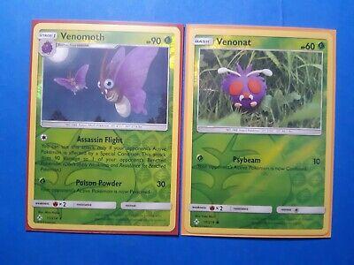 Venomoth 11/214, 2x Venonat 10/214 (ALL reverse holo) Pokemon Unbroken Bonds NM