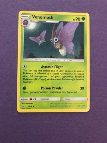 POKEMON SM UNBROKEN BONDS CARD : VENOMOTH - 11/214