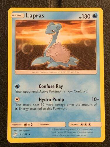 Pokemon Lapras Card: 31/181