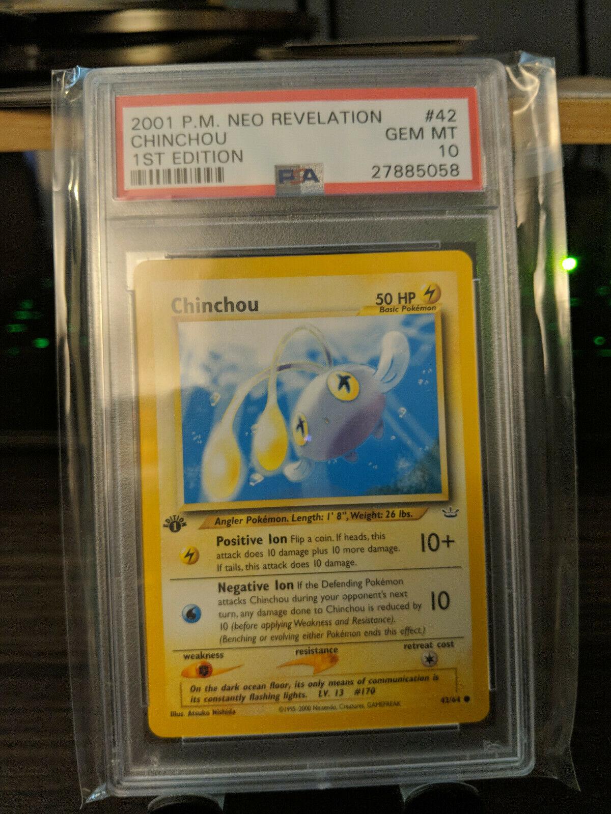 Pokemon Neo Revelation Common Card #42//64 Chinchou