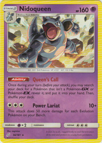 Pokemon NIDOQUEEN 56/181 RARE NM CARD  TEAM UP
