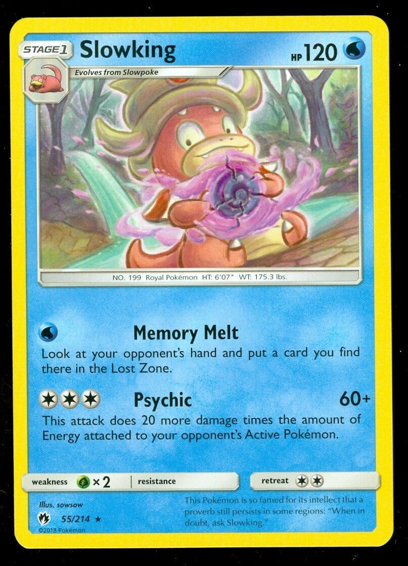 Pokemon TCG Slowking 55//214 Sun /& Moon Lost Thunder RARE NM//M