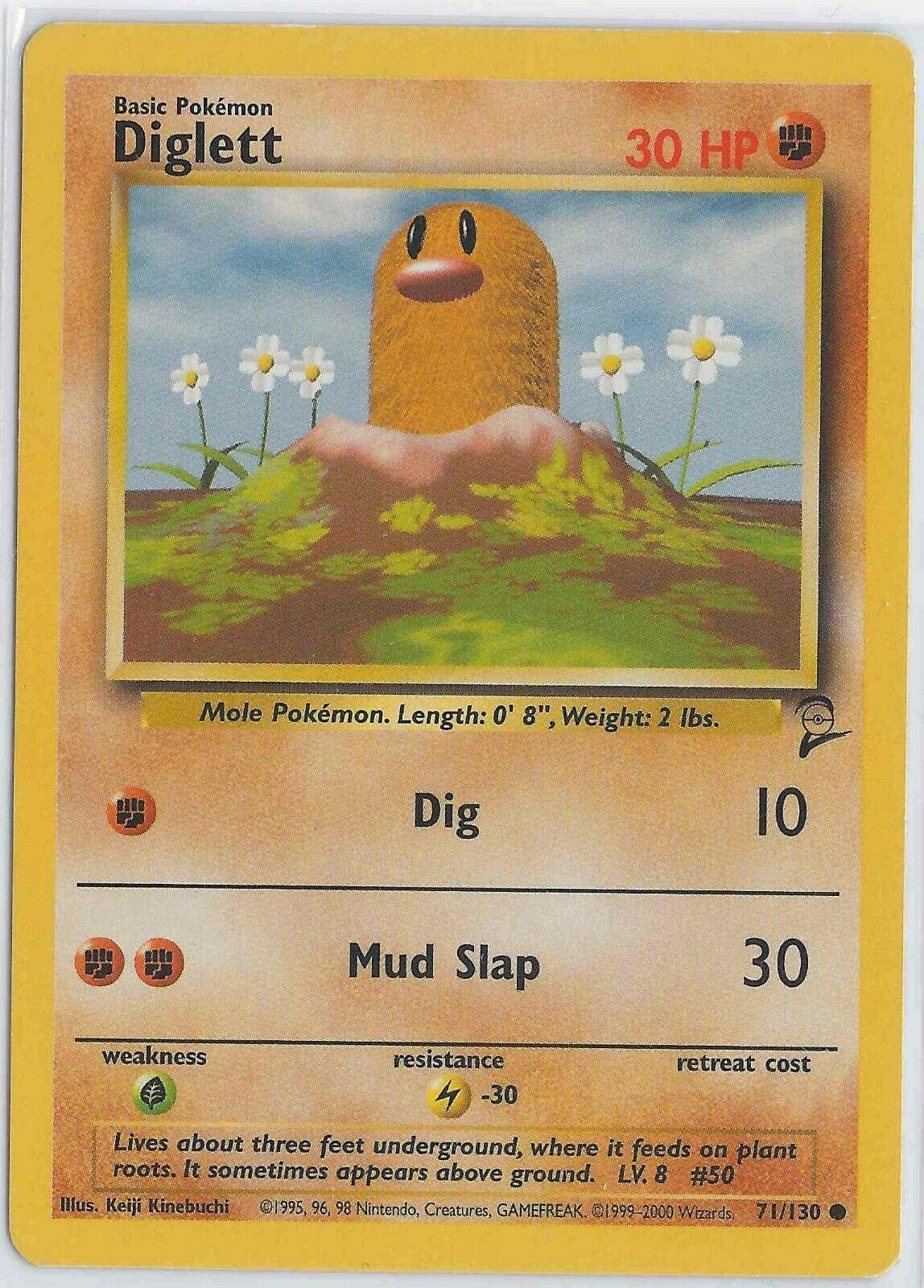 NM+ Diglett #71//130 BASE 2 Set 2000 Pokemon Cards