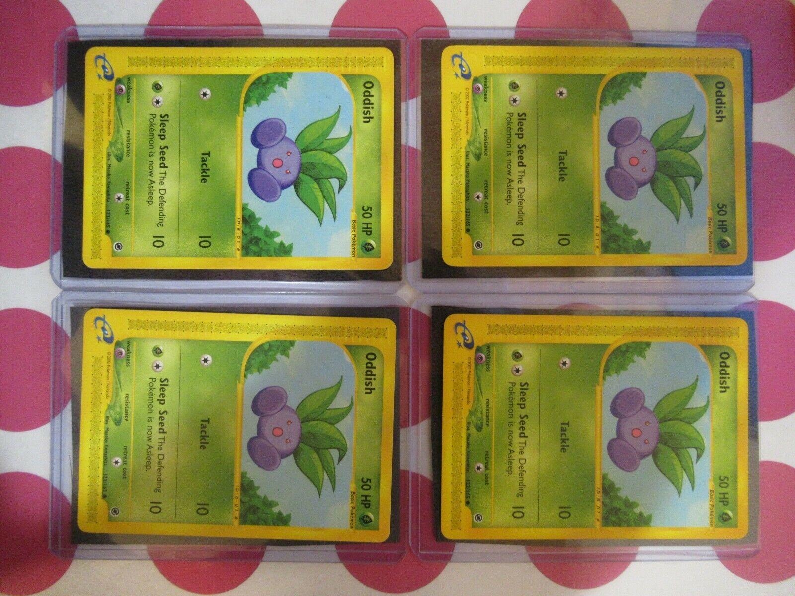 Common 1 x MP Oddish Reverse Holo Expedition Base Set Pokemon TCG 122//165